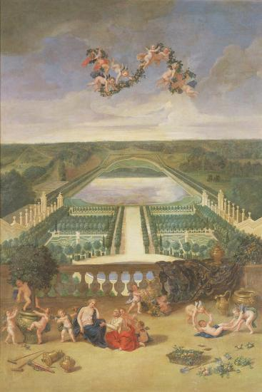 View of the Orangerie at Versailles-Jean the Younger Cotelle-Giclee Print