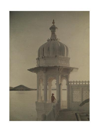 View of the Palace of Maharaja's Pond from the Island of the Sultans-Gervais Courtellemont-Photographic Print