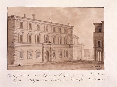 View of the Palace of Prince Eugene in Bologna, Engraved by S.A.I. after Busatti, 1814--Giclee Print