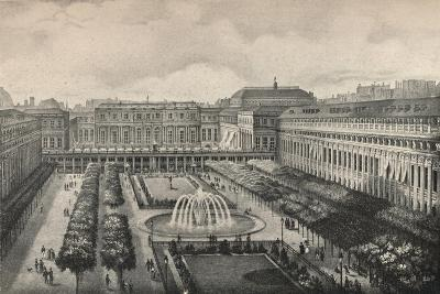 View of the Palais-Royal in 1834, 1915-Albert Delton-Giclee Print