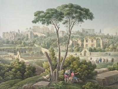 View of the Palatine Hill in Rome-Louis-Francois Cassas-Giclee Print
