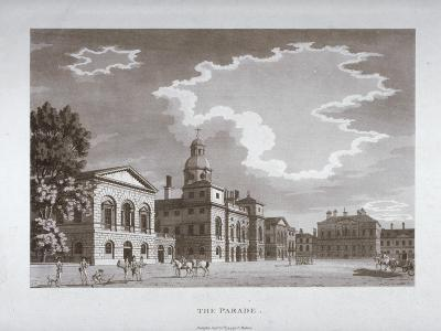 View of the Parade at Horse Guards, Westminster, London, 1794--Giclee Print