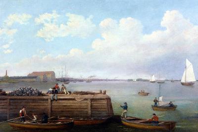 View of the Philadelphia Navy Yard-Thomas Birch-Giclee Print