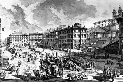 View of the Piazza Di Spagna, from the 'Views of Rome' Series, C.1760-Giovanni Battista Piranesi-Giclee Print
