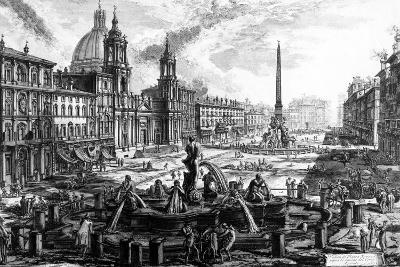 View of the Piazza Navona, from the 'Views of Rome' Series, C.1760-Giovanni Battista Piranesi-Giclee Print