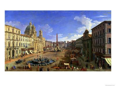 View of the Piazza Navona, Rome-Canaletto-Giclee Print