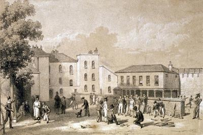 View of the Playground of Burlington House and School, Fulham, London, C1825--Giclee Print