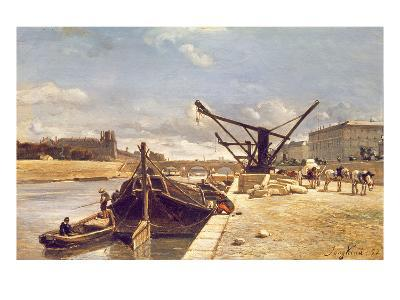 View of the Pont Royal, Paris-Johan-Barthold Jongkind-Giclee Print