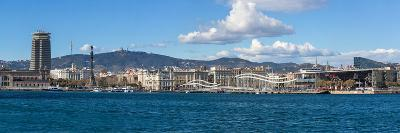 View of the Port of Barcelona, Barcelona, Catalonia, Spain--Photographic Print