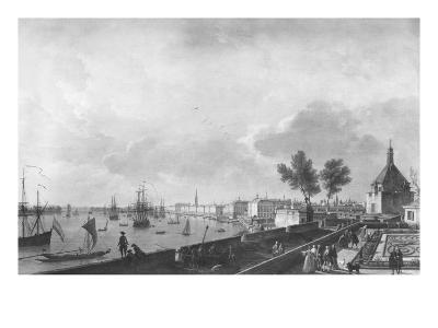 View of the Port of Bordeaux Seen from Chateau Trompette, 1759-Claude Joseph Vernet-Giclee Print
