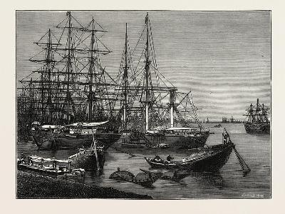 View of the Port of Calcutta, India--Giclee Print