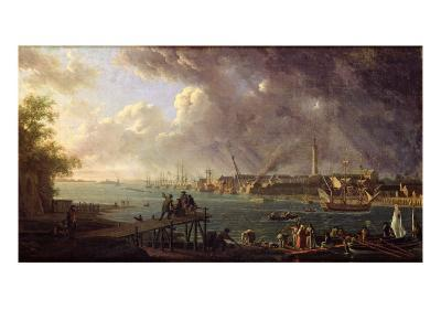 View of the Port of Lorient-Jean-Francois Hue-Giclee Print