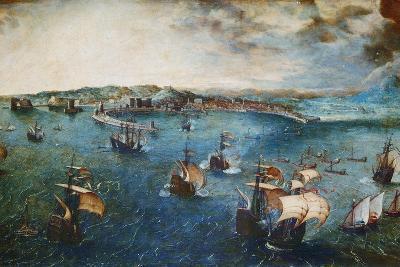 View of the Port of Naples, Ca, 1560-Pieter Bruegel the Elder-Giclee Print