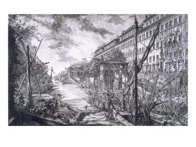 View of the Port of Ripa Grande-Giovanni Battista Piranesi-Giclee Print