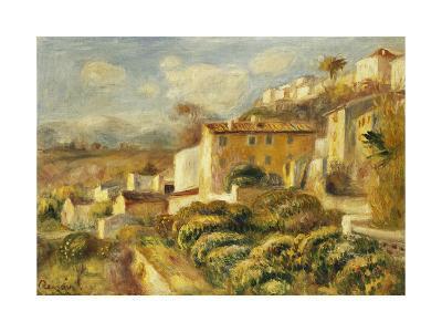 View of the Post Office, Cagnes; Vue de La Poste, Cagnes, 1907-Pierre-Auguste Renoir-Giclee Print
