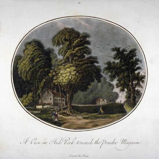 View of the Powder Magazine in Hyde Park, Westminster, London, 1791--Giclee Print