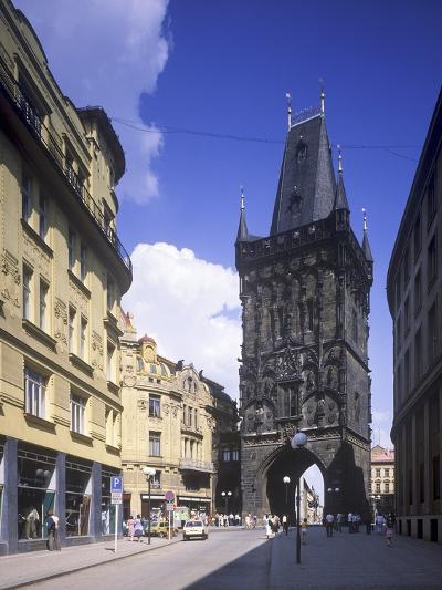View of the Powder Tower, Prague, Czech Republic--Photographic Print