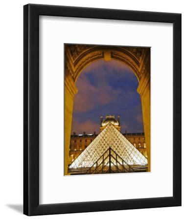 View of the Pyramid and the Louvre Museum Building