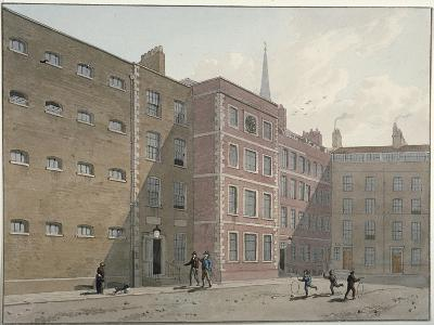 View of the Quadrangle at Bridewell, City of London, 1810-George Shepherd-Giclee Print