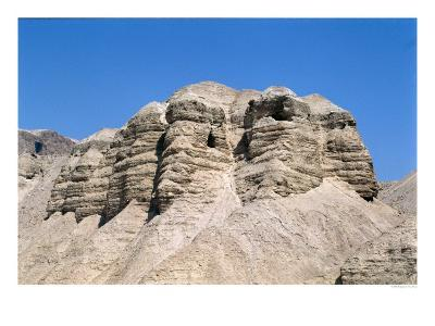 View of the Qumran Caves, Where the Dead Sea Scrolls were Discovered in 1947--Giclee Print