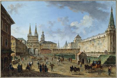 View of the Resurrection Gate on Red Square, Moscow, Russia, C1801-Fyodor Yakovlevich Alexeev-Giclee Print