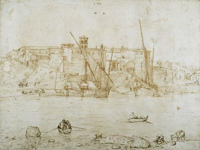 View of the Ripa Grande, Rome, C.1552-Pieter Bruegel the Elder-Giclee Print
