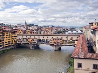 View of the River Arno and Ponte Vecchio, Florence, UNESCO World Heritage Site, Tuscany, Italy, Eur-Godong-Photographic Print