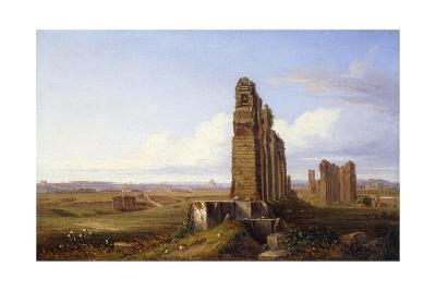 View of the Roman Campagna-Franz Knebel-Giclee Print