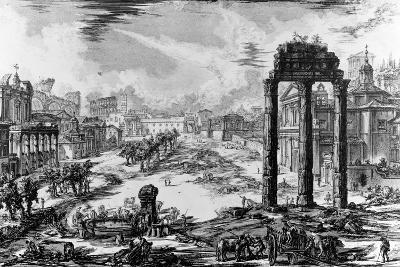 View of the Roman Forum, from the 'Views of Rome' Series, 1758-Giovanni Battista Piranesi-Giclee Print