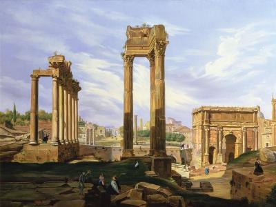 View of the Roman Forum-Jodocus Sebasiaen Adeele-Giclee Print