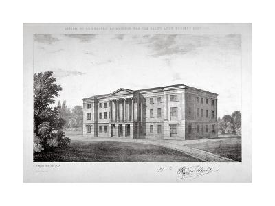 View of the Royal Asylum of St Ann's Society to Be Erected on Streatham Hill, London, 1829-John Henry Taylor-Giclee Print