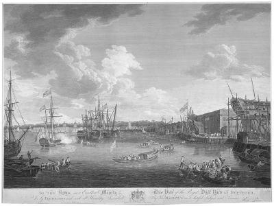 View of the Royal Dockyard, Deptford, London, 1793-W Woollett-Giclee Print