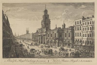 View of the Royal Exchange London, 1751-Thomas Bowles-Giclee Print