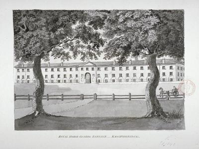 View of the Royal Horse Guards Barracks, Knightsbridge, Westminster, London, C1796--Giclee Print