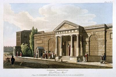View of the Russell Institution, Great Coram Street, Bloomsbury, London, 1811--Giclee Print