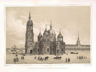 View of the Saint Isaac's Cathedral at the Time of Catherine II, 1845-Auguste de Montferrand-Giclee Print
