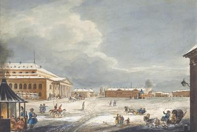 View of the Saint Petersburg Imperial Bolshoi Kamenny Theatre-Karl Ivanovich Kolmann-Giclee Print