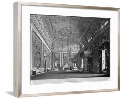 View of the Saloon in Buckingham House, Westminster, London, 1819-William James Bennett-Framed Giclee Print