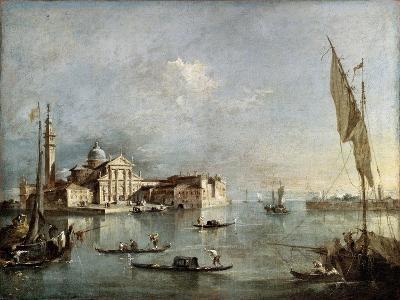 View of the San Giorgio Maggiore Island, Between 1765 and 1775-Francesco Guardi-Giclee Print
