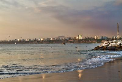 View of the Sea and the Coast, Lima, Peru-LatinContent - Ecaterina Leonte-Photographic Print