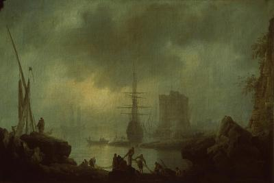 View of the Sea Mist-Claude Joseph Vernet-Giclee Print