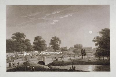 View of the Serpentine and Hyde Park, London, 1814-Matthew Dubourg-Giclee Print