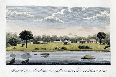 View of the Settlement Called the Jew's Savannah, 1813-John Gabriel Stedman-Giclee Print