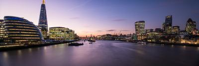 View of the Shard and City Hall from Tower Bridge, Southwark, London, England--Photographic Print