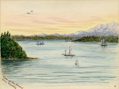 View of the Sound From Seattle-Alfred Downing-Giclee Print