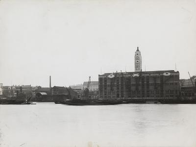View of the South Bank Between Blackfriars and Waterloo Showing the Oxo Tower, London, 1935--Photographic Print