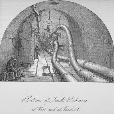View of the South Subway at the West End of Holborn Viaduct, City of London, 1871--Giclee Print