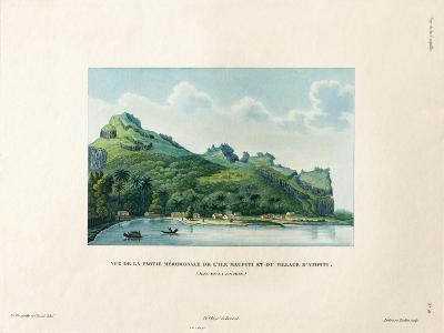 View of the Southern Part of Maupiti and the Village of Atipiti-Ambroise Tardieu-Giclee Print