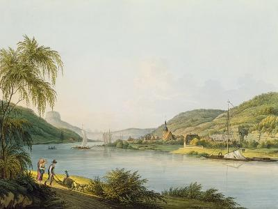 View of the Southern Part of Schandau on the Elbe in Saxony on the Border of Bohemia-Christian Gottlob Hammer-Giclee Print