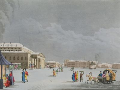 View of the Square and the Grand Theatre at St. Petersburg- Mornay-Giclee Print